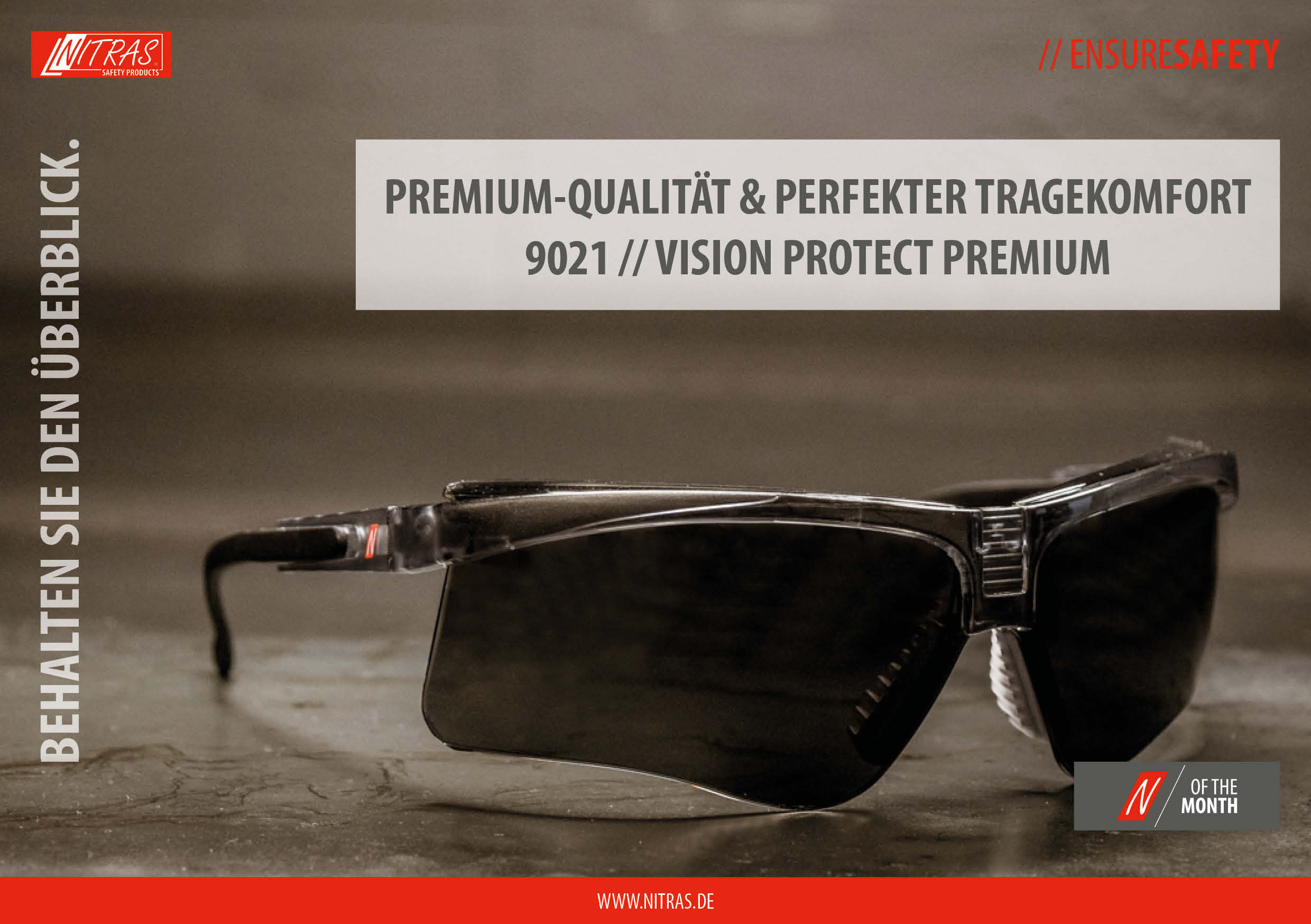 """Our """"N"""" of the month: 9021 // VISION PROTECT PREMIUM - premium-quality & perfect wearing comfort"""