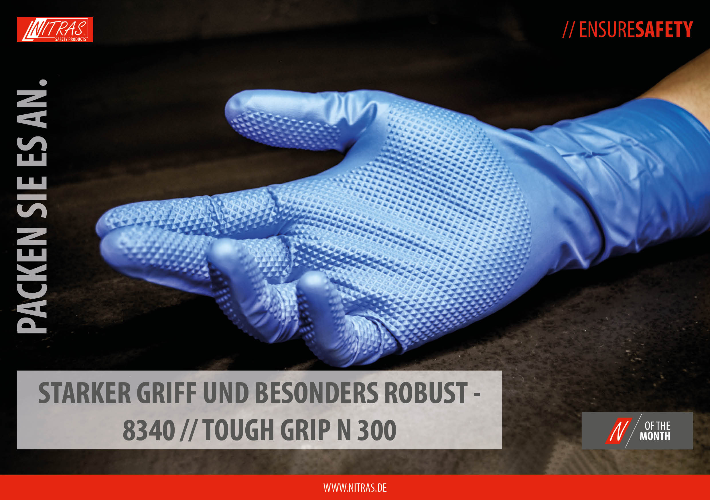 """Our """"N"""" of the month: perfect grip & very durable - 8340 // TOUGH GRIP N 300"""
